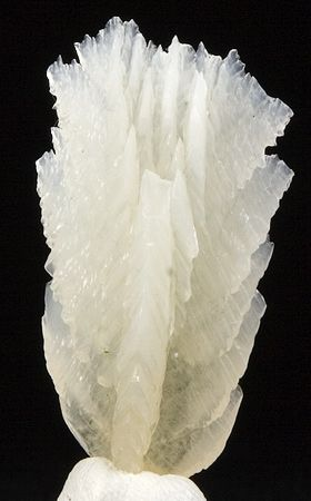 Calcite-found it once on a hike, thin sheets of it look like broken glass but feel like plastic.