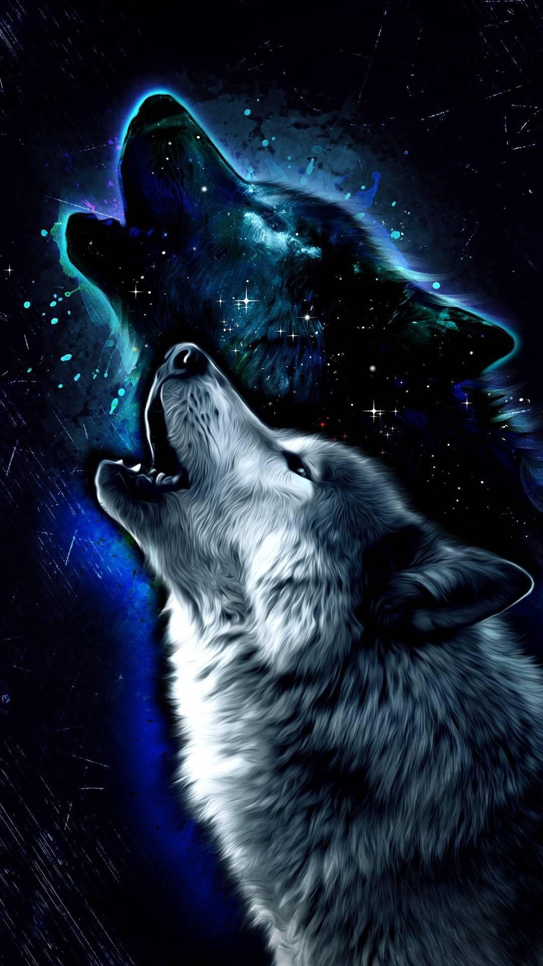 Galaxy Wolf Spirit Animal Wolf Wallpaper Wolf Spirit