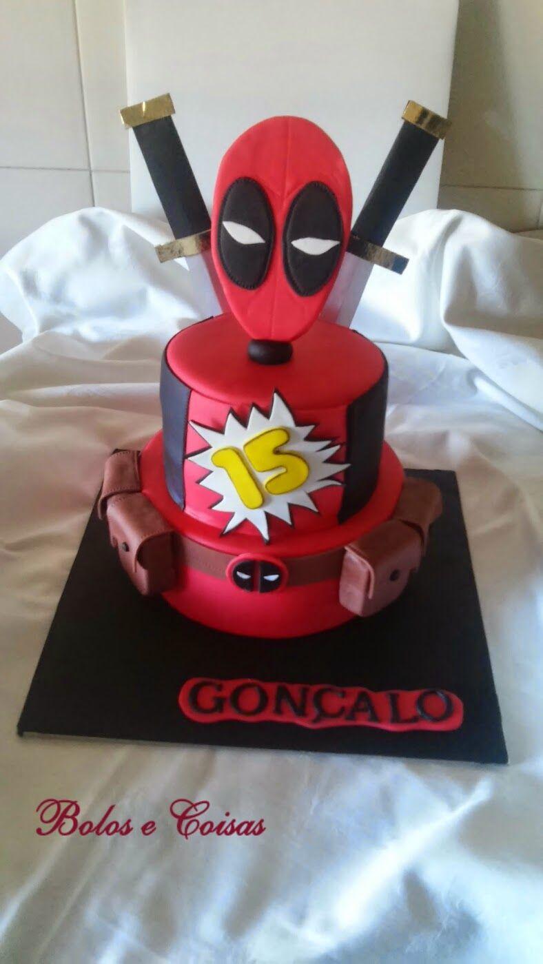 Bolos E Coisas Bolos Decorados Cake Design Deadpool Goncalo