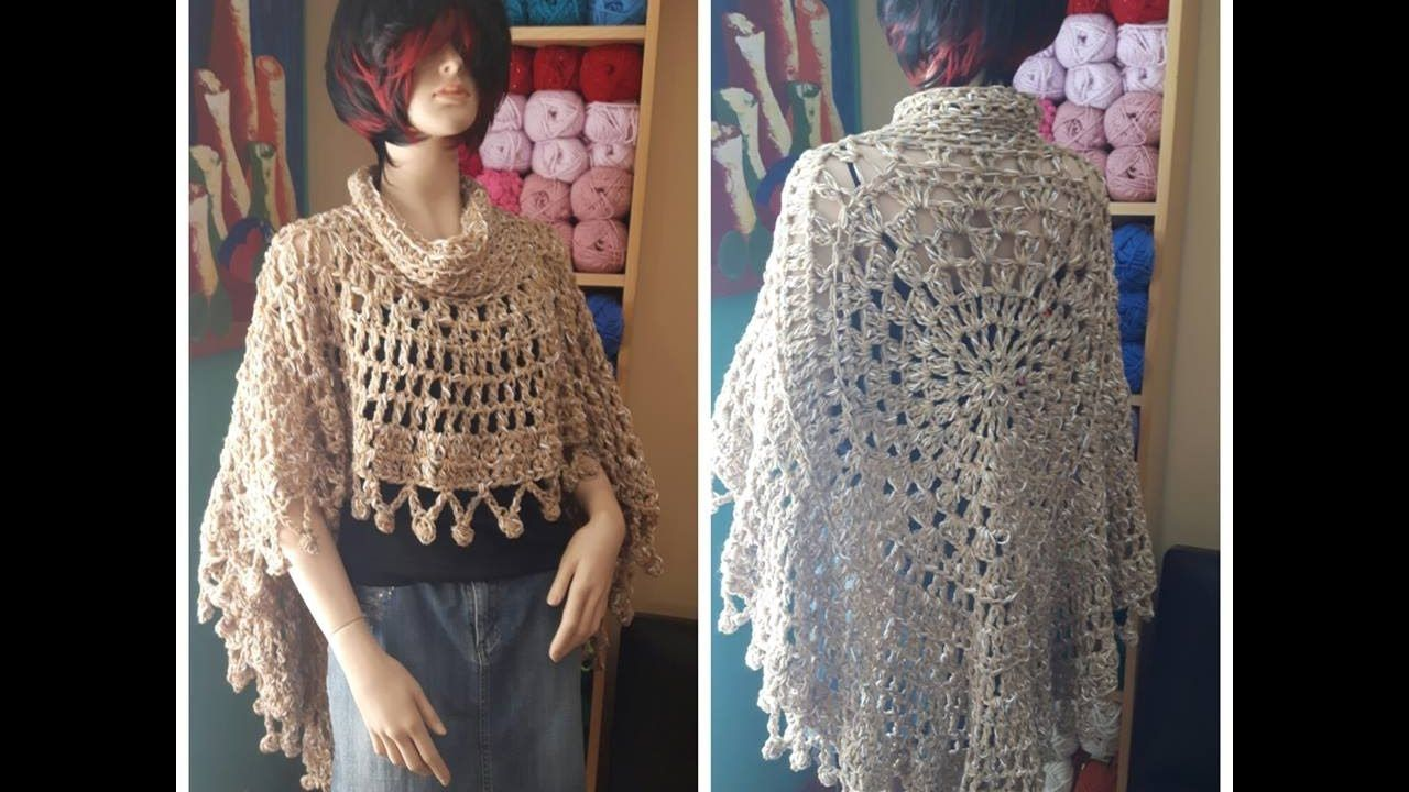 Crochet poncho redondo para principiantes | Chales, ponchos y más :D ...