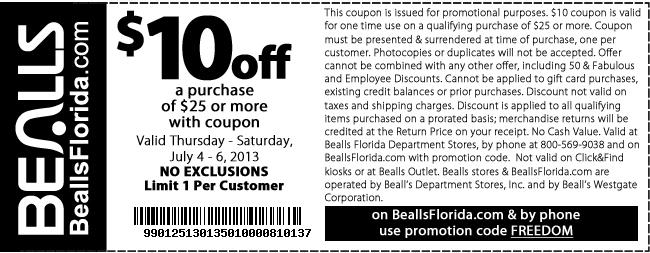 10 Off 25 At Bealls Florida Bealls Florida Printable
