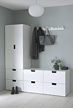 Gross Buntes Willkommen Ikea Garderoben Ideen Flur Dekor