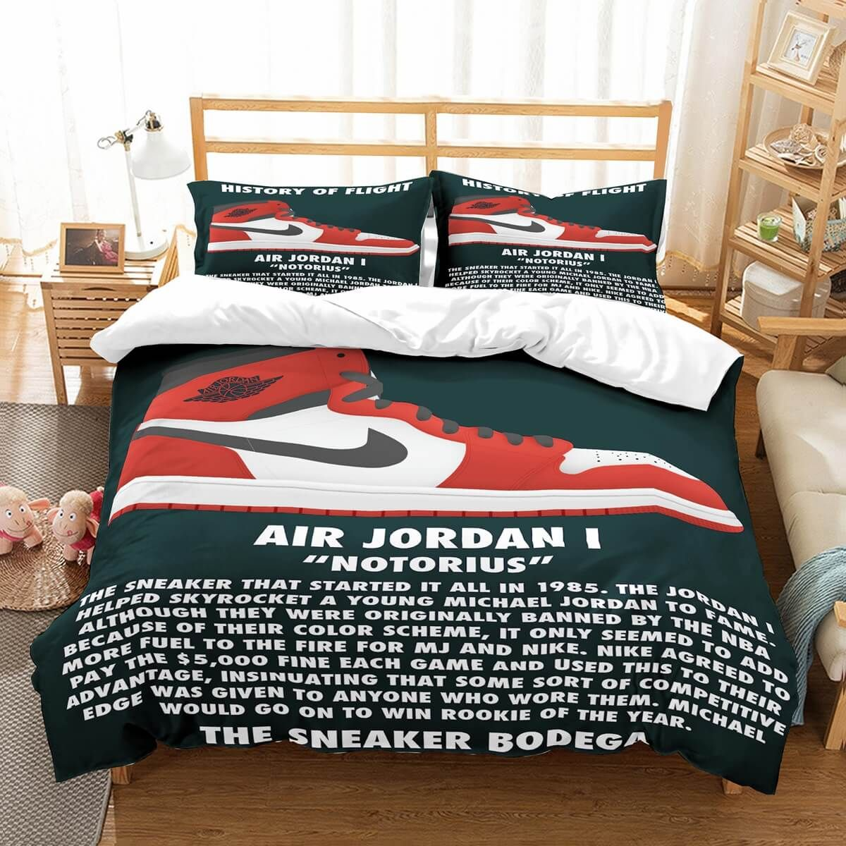 3D Customize Jordan Shoes Bedding Set Duvet Cover Set
