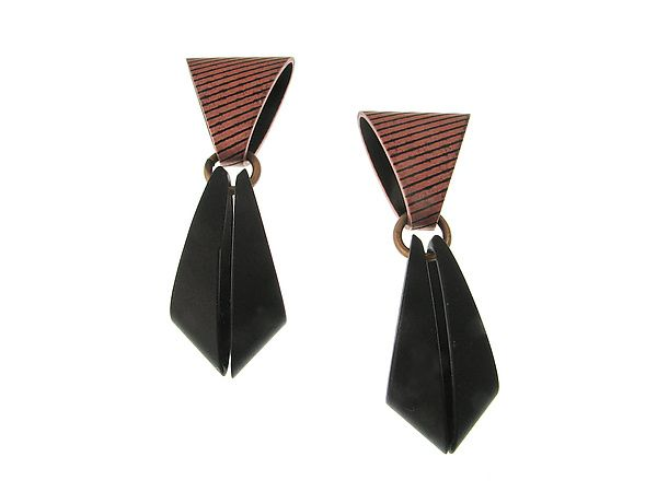 Geometric Drop Earrings by Erica Zap: Metal Earrings available at www.artfulhome.com