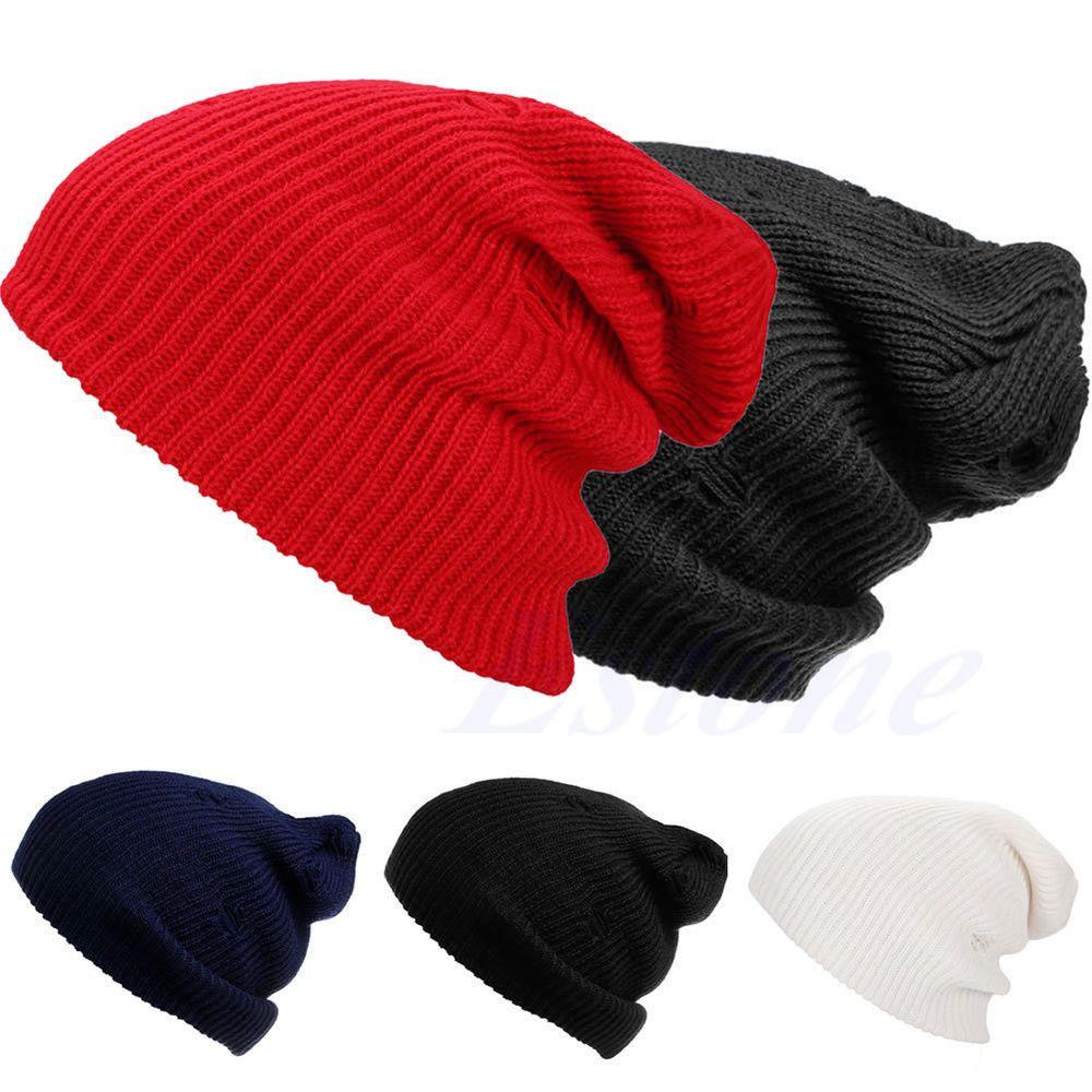 843d76bdabb NEW Men Women Oversize Knit Baggy Beanie Winter Hat Unisex Ski Slouchy  Skull Cap  Unbranded  Ski