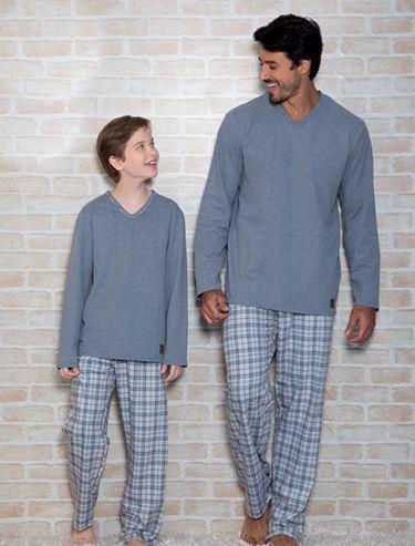 d5482d9f7c9f98 Recco - Kit Pijama tal pai tal filho   Fashion 3   Pijamas para ...