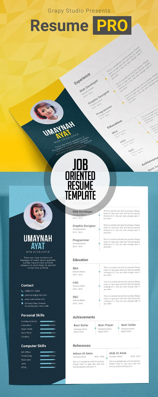 Resume PRO Template (Job interview resume) | Curriculum Vitae ...