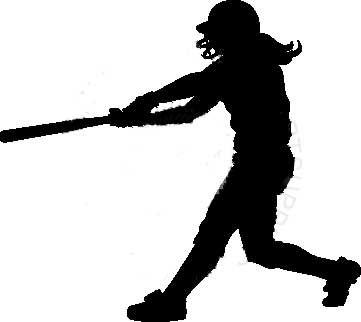softball player clipart black and white clipartfest silhouette rh pinterest com Softball Player Vector female softball player clipart