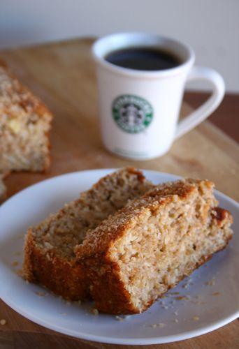 banana coconut bread (super moist and rich in flavor but no butter, oil or sugar!)