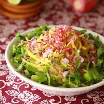 Pink Torch Ginger Flower Salad Penang Best Asam Laksa Mango Kerabu Tasty Vegetarian Recipes Asian Recipes Easy Asian Recipes