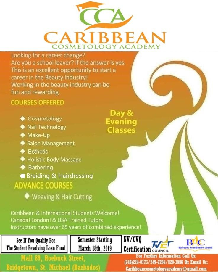 The Caribbean Cosmetology Academy Are Looking For Ambitious Individuals And School Leavers Who Are Interested In Pur School Leavers Cosmetology Beauty Industry