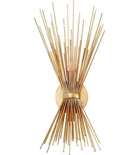 Visual Comfort KW2070G Kelly Wearstler Strada 2 Light 8 inch Gild Sconce Wall Light, Kelly Wearstler, Small #visualcomfort #lightingnewyork #lighting