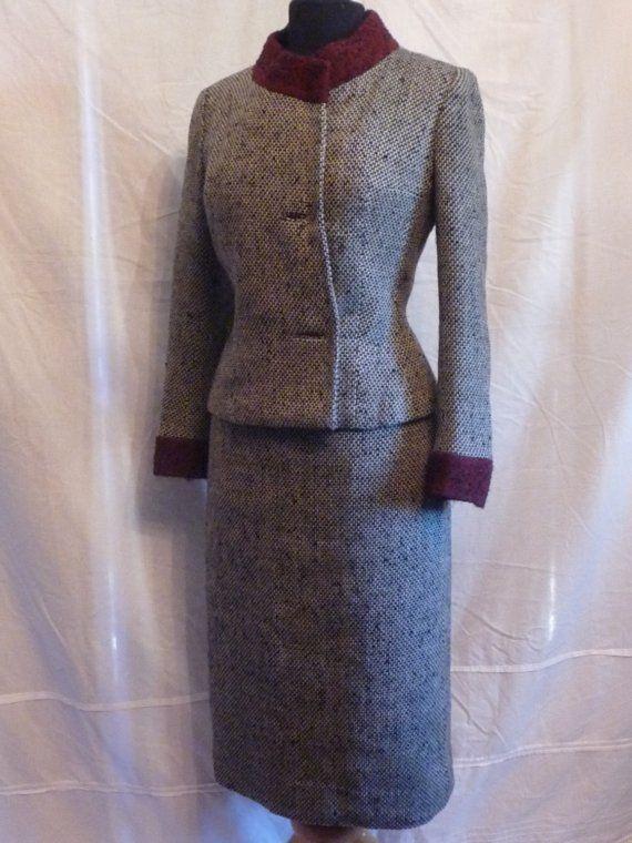 50's Vintage Tweed Box Suit