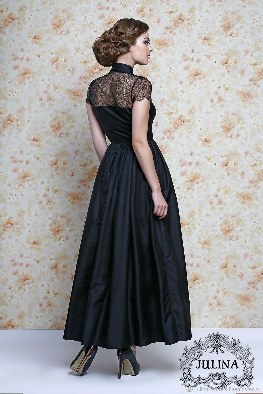 45383353157 Платье вечернее из шелка и Шантильи