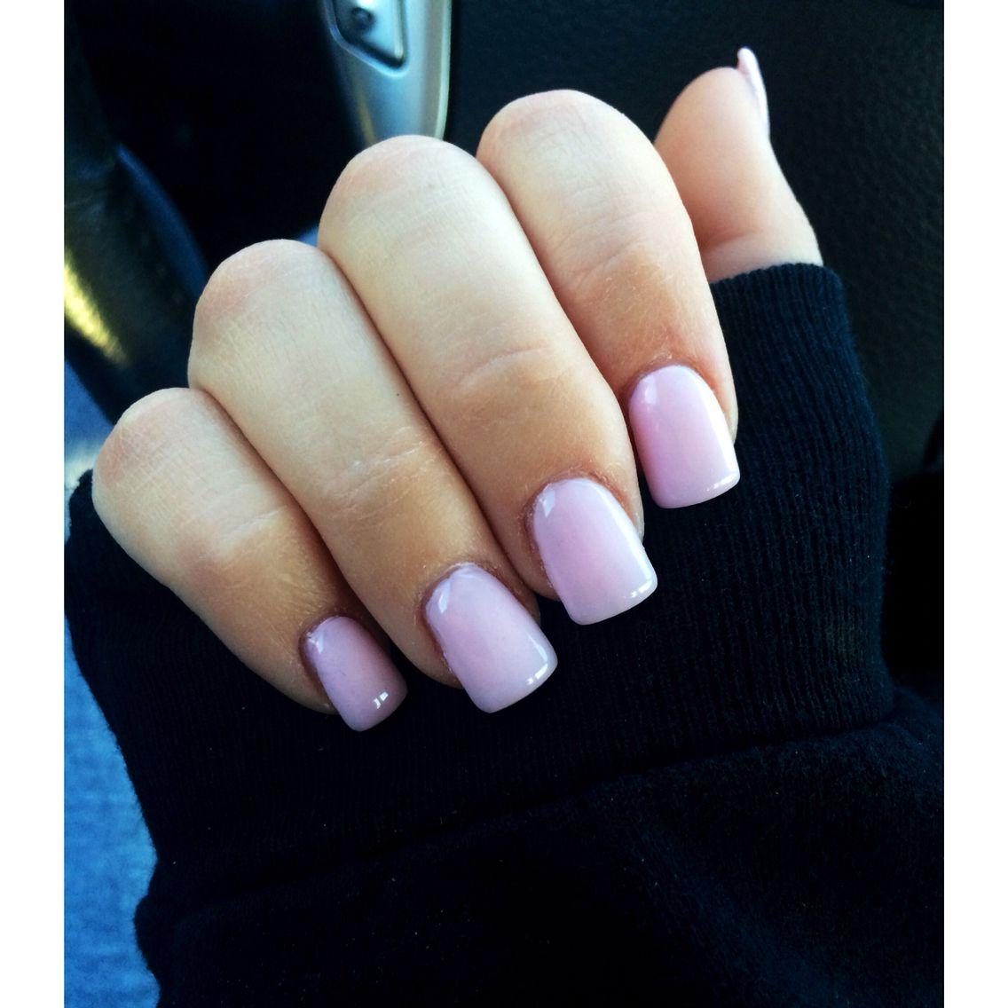 Light pink acrylic nail color | nails | Pinterest