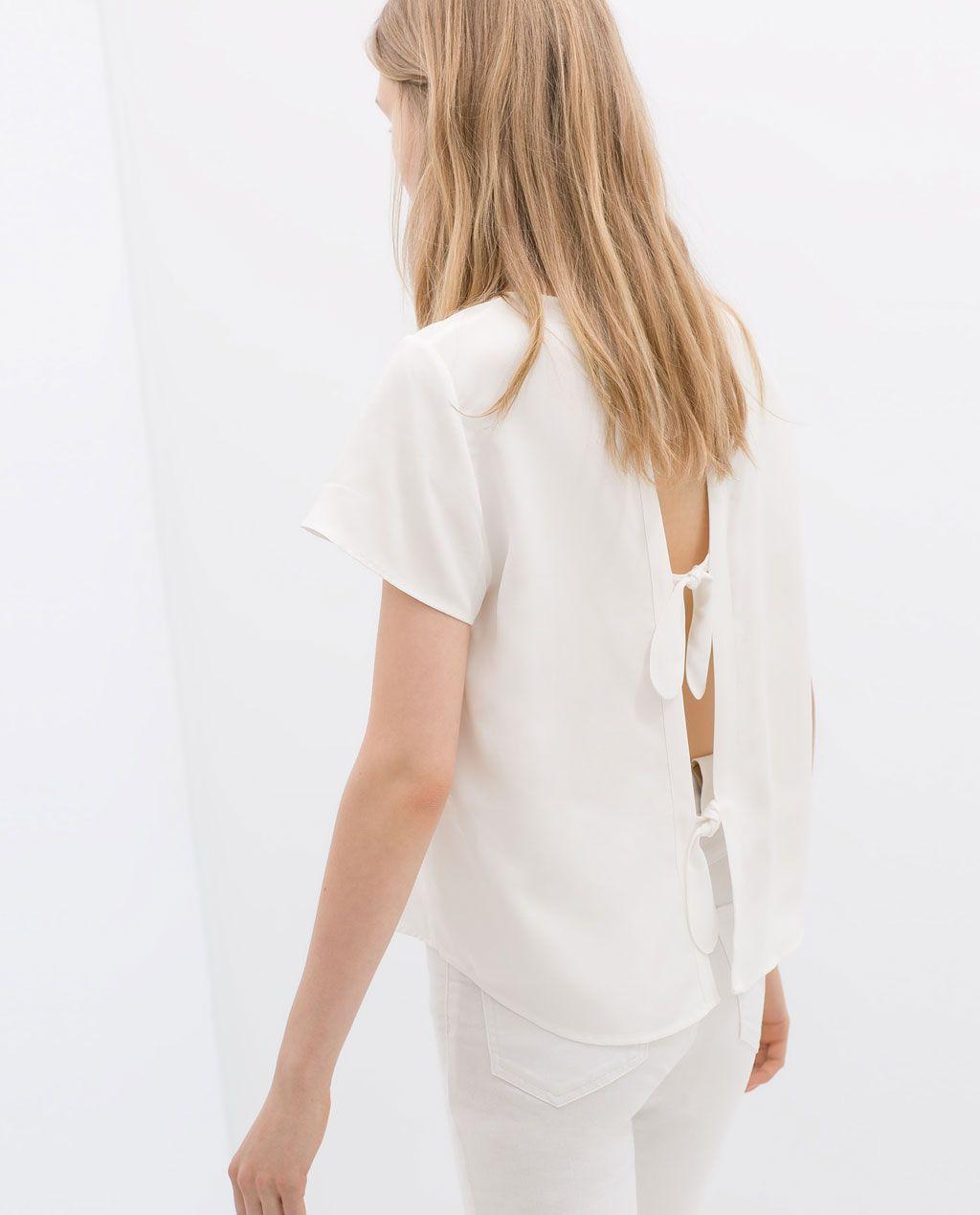 Image 5 Of BACK TIE TOP From Zara