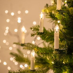 Lights4fun 50 Warm White LED Christmas Candle Indoor Fairy Lights with Tree Clips