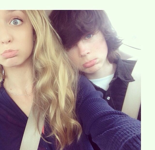 Chandler Riggs with Hana hayes