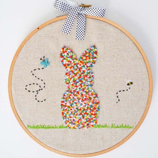 Ricamo coniglio love embroidery pinterest tutorials