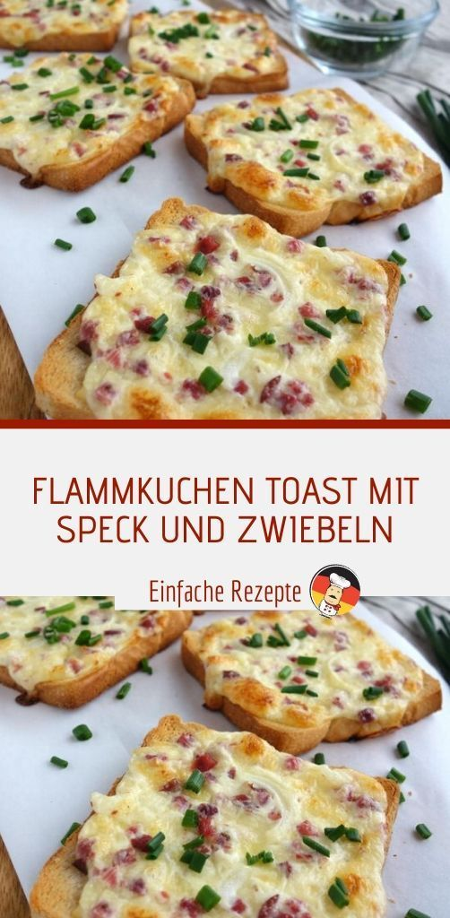 Photo of FLAME CAKE TOAST WITH BACON AND ONIONS Sprainnews # lunch #rezepte #rez …