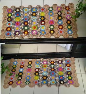 Arte em Crochet: Tapete em crochet com lã