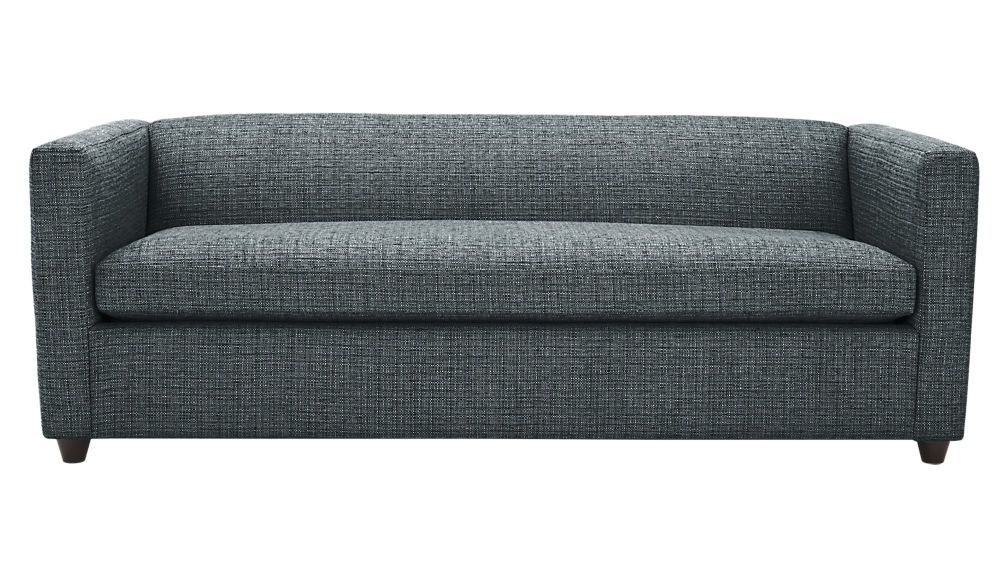 Cb2 Movie Queen Sleeper Sofa In Sapphire Notes Low Back Provides