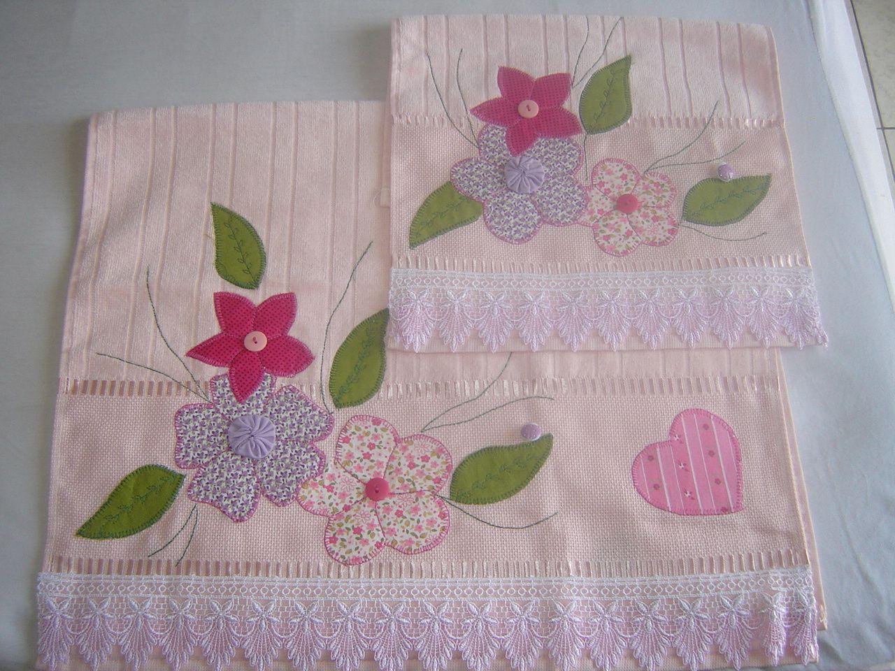 Flores toalha buscar con google a cosas excelentes for Apliques para toallas