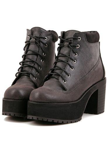 94199dfa5d7 Botas chunky heel plataforma escondida -negro 35.70 | clothing ♥ en ...