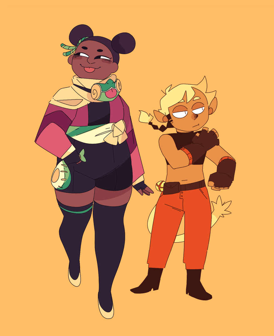 to everyone who notices how i tweak my characters' color palettes and outfits literally every time i draw them: i am so sorry