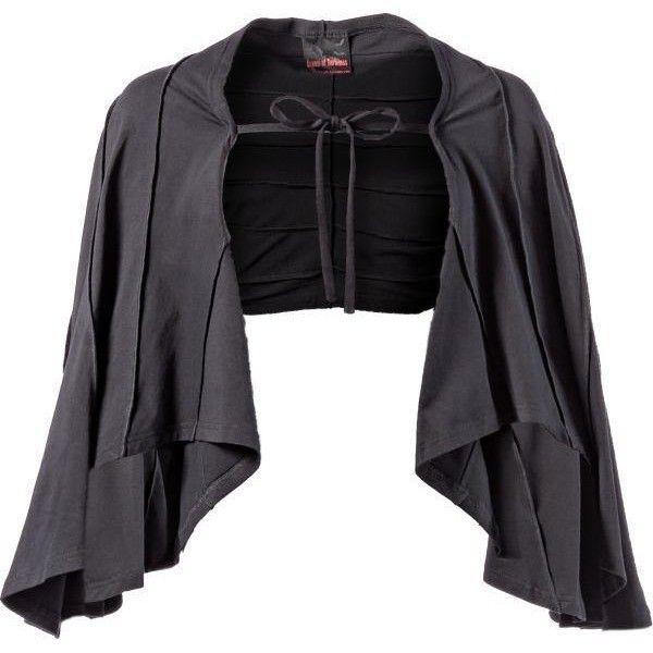 Bolero mit Fledermausärmeln - Queen of Darkness - Gothic / Dark... ❤ liked on Polyvore featuring outerwear, jackets, cloak, medieval, cloak jacket, gothic jackets, goth jacket, bolero jacket and gothic cloak