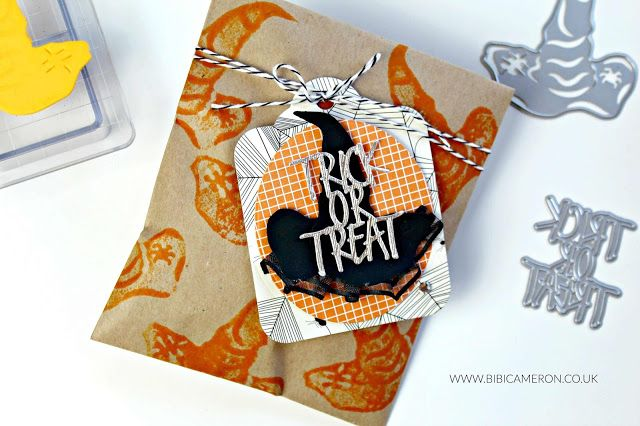 4 packaging ideas with Halloween dies by Tonic Studios BOXES - halloween treat bag ideas
