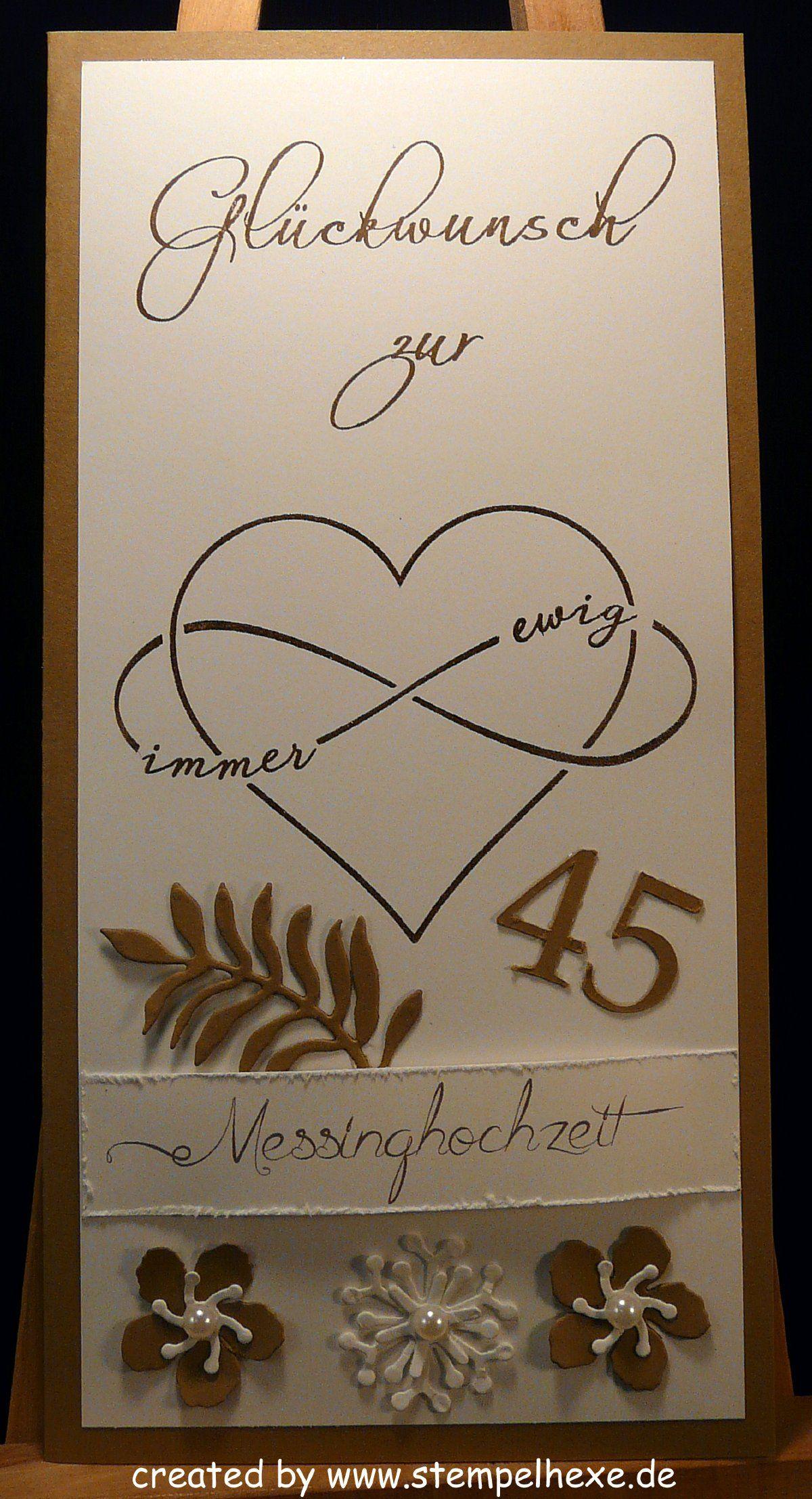 45 Hochzeitstag Messinghochzeit Stampin Stempelhex 45