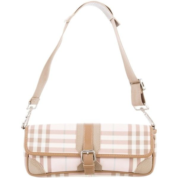 Pre Owned Burberry Leather Trimmed Nova Check Bag 5 145 Mxn Liked