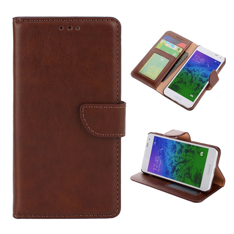 Wallet Flip Leather With Stand Card Slot & Photo sFor Samsung Galaxy Alpha Case For Samsung Galaxy Alpha G850 Phone Case Cover
