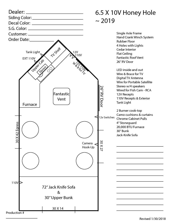 6 5 X 10v Honey Hole House Plans Castle Floor Plan Fish House