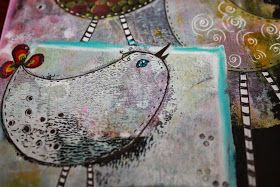 With Friends Life is beautiful      You were born to fly       These two paintings I made to a new challenge from  Mixed Media Place.  I...