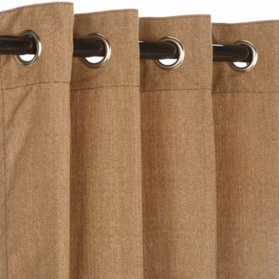 Pawleys Island Sunbrella 120 Grommet Top Outdoor Curtain Panel In Medium Brown Sunbrella Outdoor Curtains Outdoor Curtains Grommet Curtains