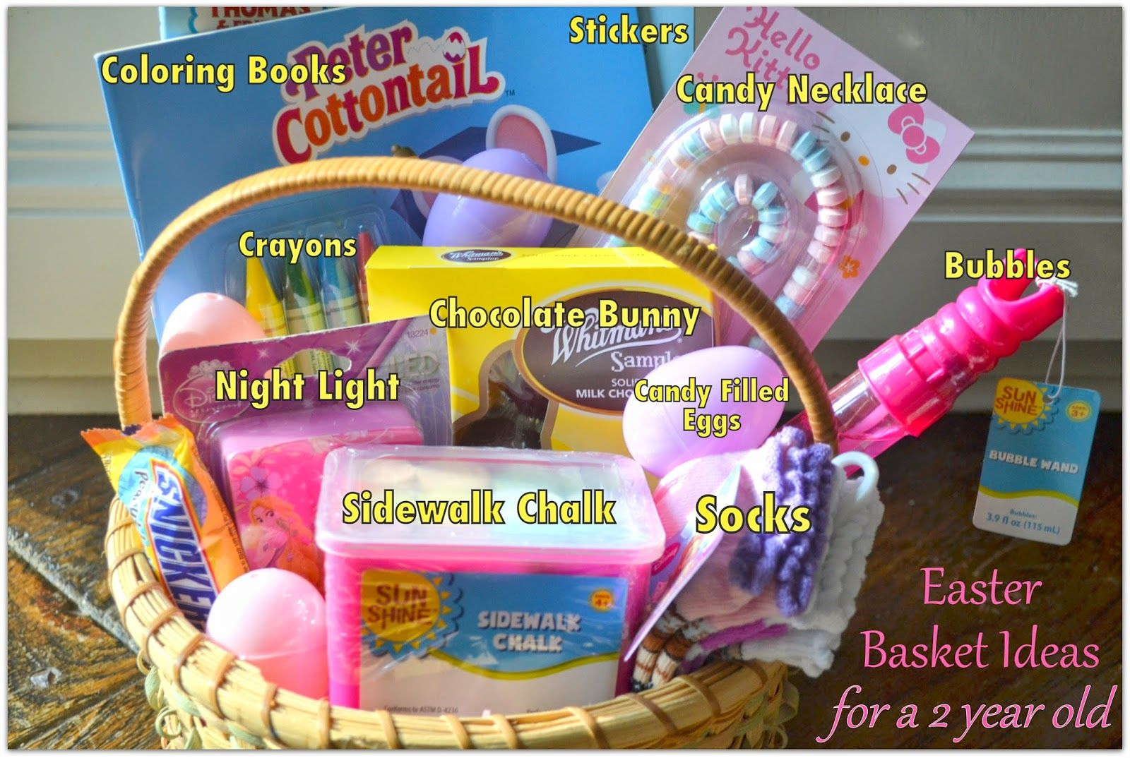 Easter basket ideas for a two year old easter pinterest basket easter basket ideas for a two year old negle Gallery