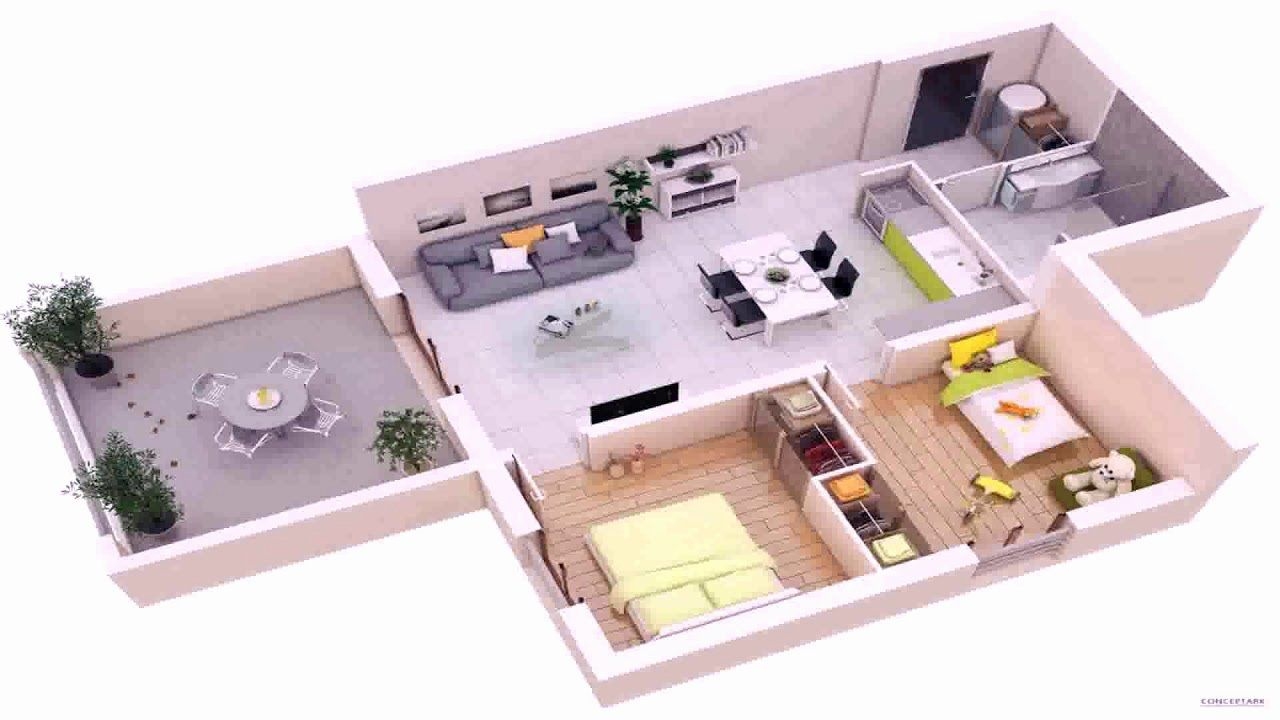 16 3d 3 Bedroom House Plans In 2020 Small House Design Home