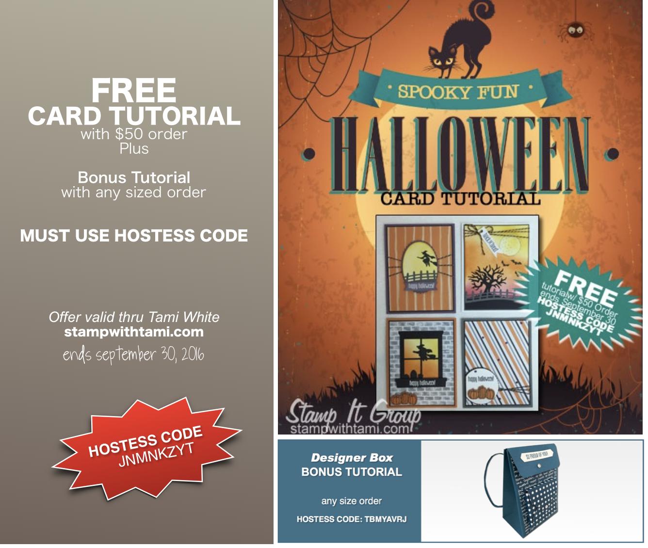 FREE TUTORIALS: Spooky Fun Card Tutorial U0026 Backpack Box Bonus U2013 Ends Sept  30u2026