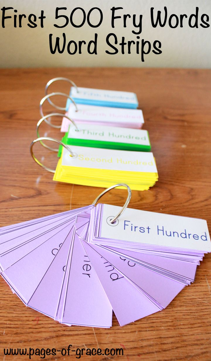 Sight Word Strips (First 500 Fry Words)   Sight Word Soiree ...