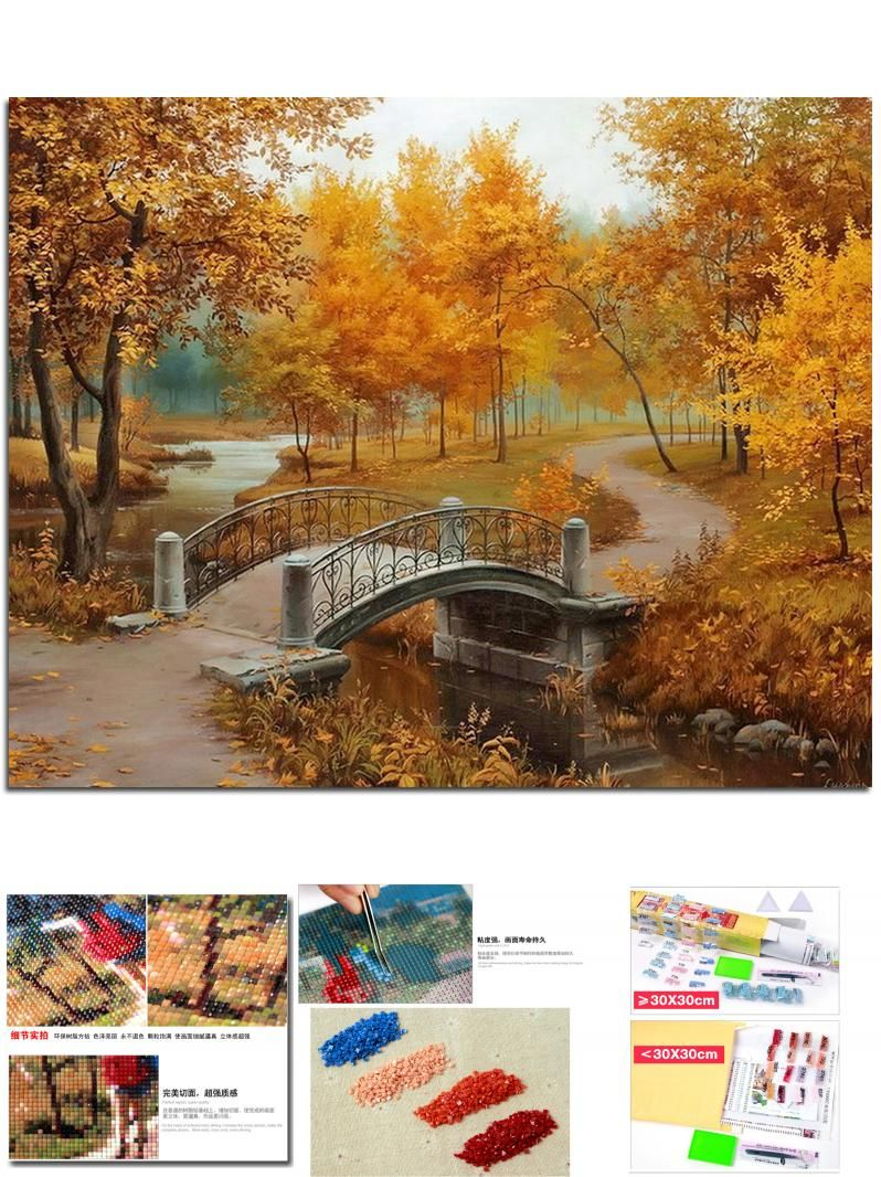 More similar stock images of 3d landscape with fall tree -  Visit To Buy New Full Diy Diamond Painting Kit 3d Cross Stitch Square Diamond