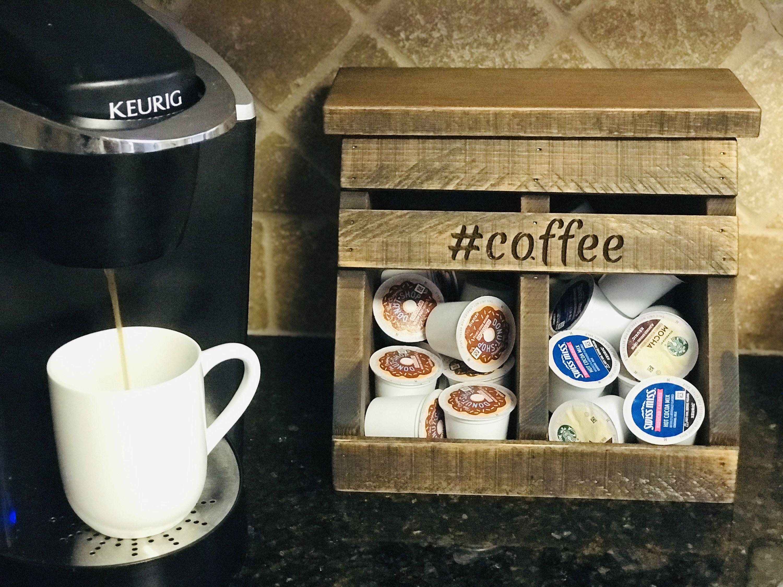 Kcup holder coffee storage coffee station monogrammed
