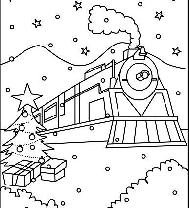 Polar Express Coloring Pages Printable Competence Polar Express