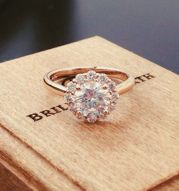 Simple Round Vintage Rose Gold Engagement Ring Wedding Rings Engagement Engagement Rings Wedding Rings