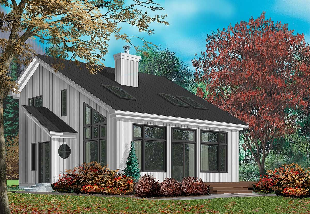 Plan 21149dr Cottage With Great Natural Light Cottage Plan Contemporary House Plans House Plans