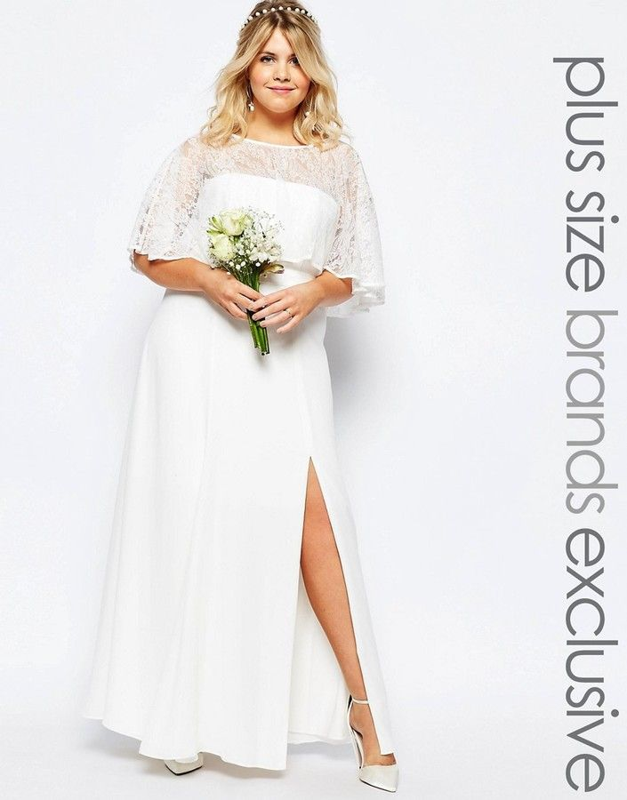 Fame and Partners Plus Fame And Partners Plus Bridal Lace Maxi Dress ...