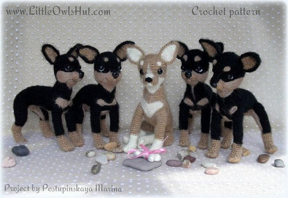 059 Toy Terrier dog - Crochet Pattern PDF file Amigurumi by Chirkova ...