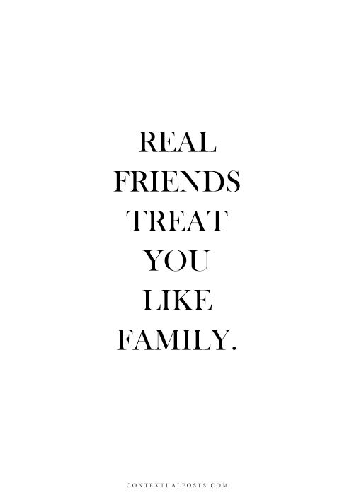 """Even when family can't be """" friends"""""""