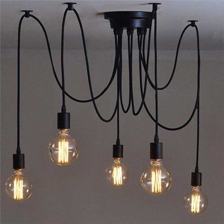 Retro Stil Edison Decke Lampe Licht Kronleuchter Haus Zimmer Dekorative Pendelleuc Retro Chandelier Industrial Ceiling Lights Industrial Ceiling Light Fixtures